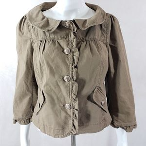 LOFT Button Front Jacket Lightweight Spring Small